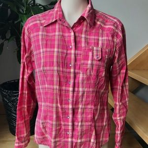 Columbia - long sleeves pink tartan shirt
